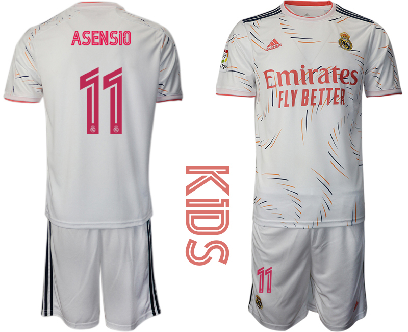Youth 2021-22 Real Madrid home 11# ASENSIO soccer jerseys