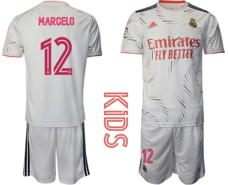 Youth 2021-22 Real Madrid home 12# MARCELO soccer jerseys