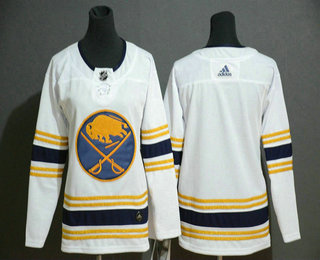 Youth Buffalo Sabres Blank White With Gold 50th Anniversary Adidas Stitched NHL Jersey