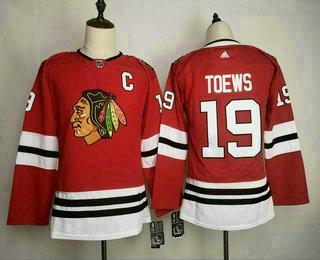Youth Chicago Blackhawks #19 Jonathan Toews adidas Home Authentic Red Player Jersey