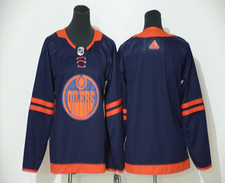 Youth Edmonton Oilers Blank Navy Blue 50th Anniversary Adidas Stitched NHL Jersey