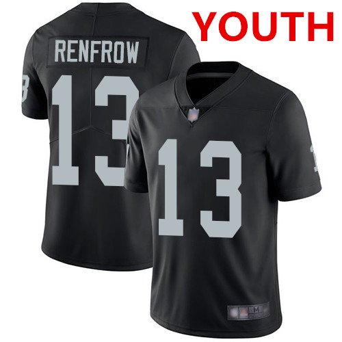 Youth Las Vegas Raiders #13 Hunter Renfrow Black Team Color Stitched Football Vapor Untouchable Limited Jersey