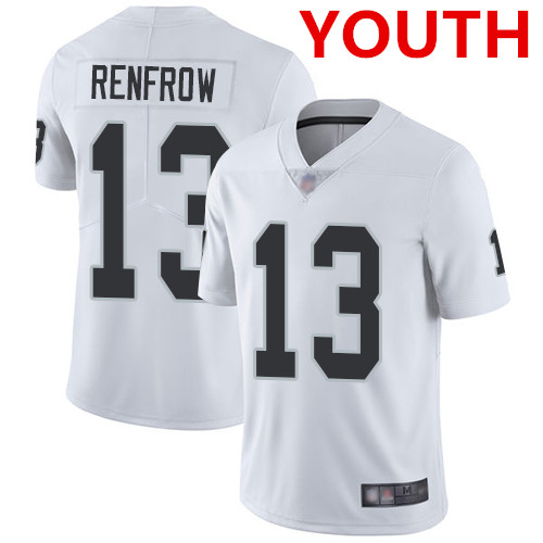 Youth Las Vegas Raiders #13 Hunter Renfrow White Stitched Football Vapor Untouchable Limited Jersey