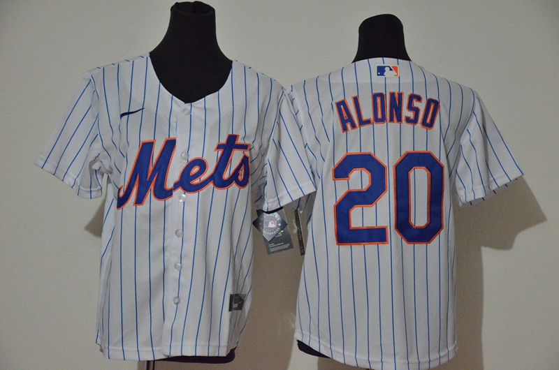Youth New York Mets #20 Pete Alonso White Home Stitched MLB Cool Base Jersey