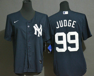Youth New York Yankees #99 Aaron Judge Navy Blue White Number Stitched MLB Cool Base Nike Jersey