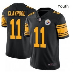 Youth Nike Steelers 11 Chase Claypool Black Rush Vapor Limited Stitched NFL Jersey