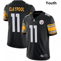 Youth Nike Steelers 11 Chase Claypool Black Vapor Limited Stitched NFL Jersey