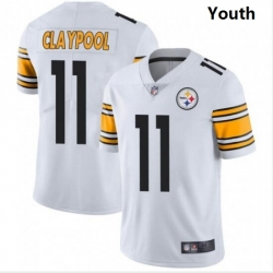 Youth Nike Steelers 11 Chase Claypool White Vapor Limited Stitched NFL Jersey