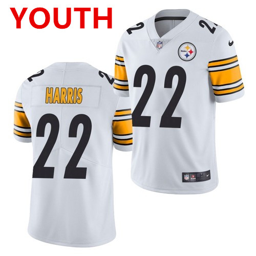 Youth pittsburgh steelers #22 najee harris white 2021 limited football jersey